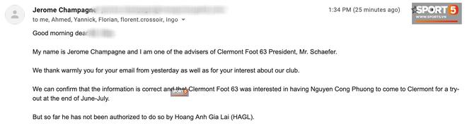 Chính thức: Không phải Paris FC, Clermont Foot 63 mới là bến đỗ mới của Công Phượng khi sang Pháp - Ảnh 1.