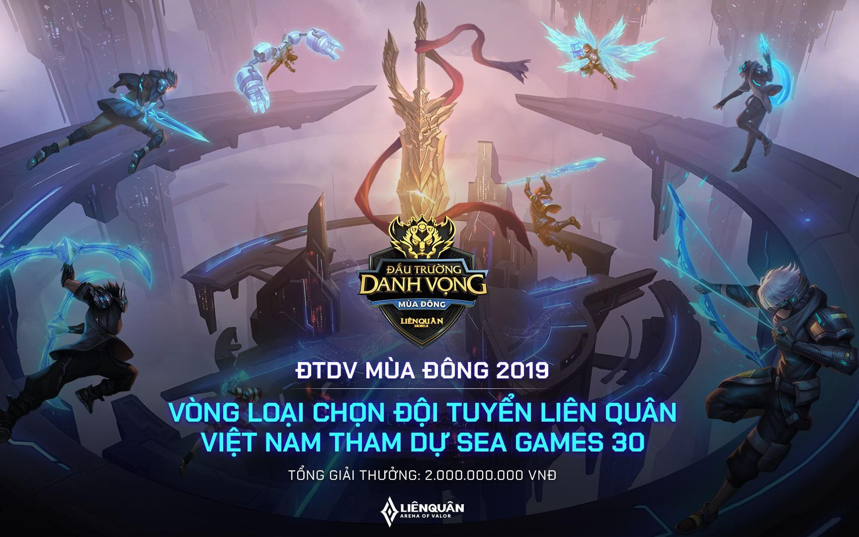 Đấu Trường Danh Vọng mùa Đông 2019 chính thức khởi tranh và cơ hội tới SEA Games 30 cho các đội Liên Quân Mobile Việt Nam