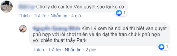 Fan tranh cãi nảy lửa vì HLV Park Hang-seo bỏ quên Văn Quyết, đặt dấu hỏi ở vị trí thủ môn - Ảnh 1.
