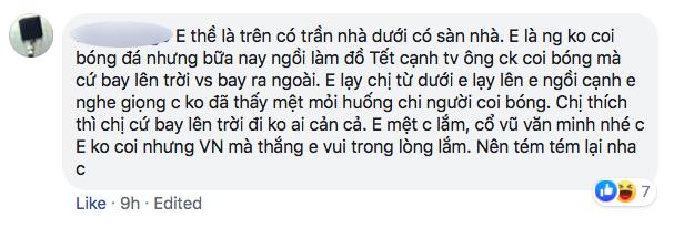 Nhiều người tràn vào Facebook cá nhân để sỉ nhục nữ CĐV cầm loa hát Bay lên trời là em bay ra ngoài: Fan bóng đá có văn hóa thì không làm thế - Ảnh 9.
