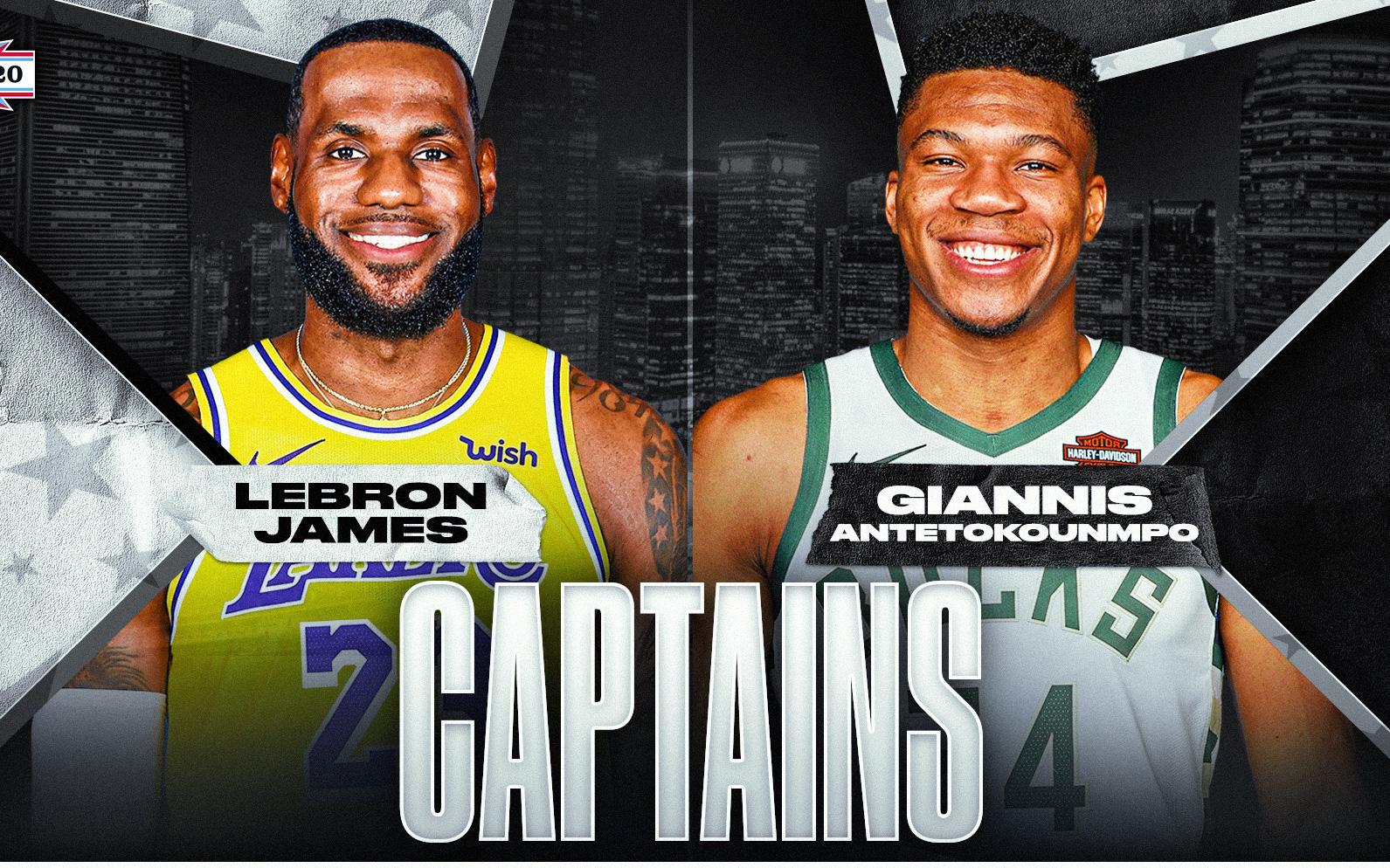 NBA chính thức công bố dàn cầu thủ All-Star Starters: LeBron James và Giannis Antetokounmpo tiếp tục trở thành đội trưởng