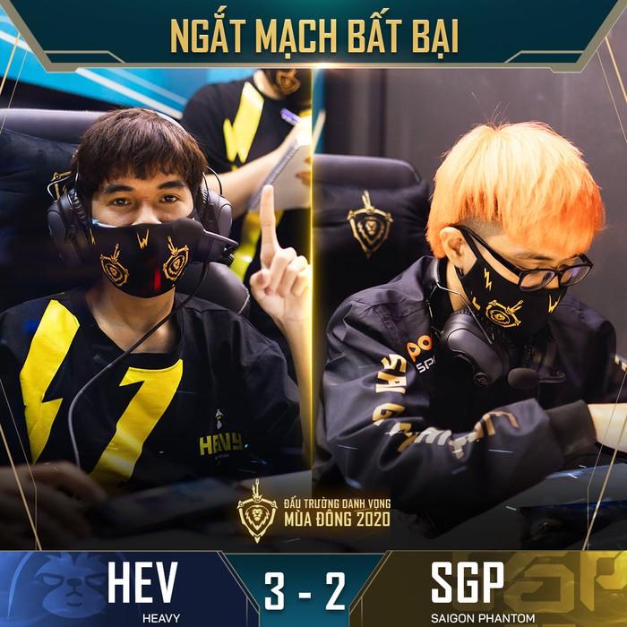Kết quả ĐTDV mùa Đông 2020: Trải qua 5 ván đấu căng thẳng, HEAVY bất ngờ tạo ra địa chấn trước Saigon Phantom, BOX dễ dàng có chiến thắng trong trận đấu muộn trước V Gaming - Ảnh 3.
