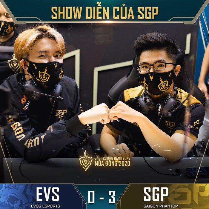 ĐTDV mùa Đông 2020 vòng 11: Huỷ diệt EVOS Esports với tỉ số 3-0, Saigon Phantom tiếp tục khẳng định vị thế số 1 ở mùa giải năm nay - Ảnh 3.