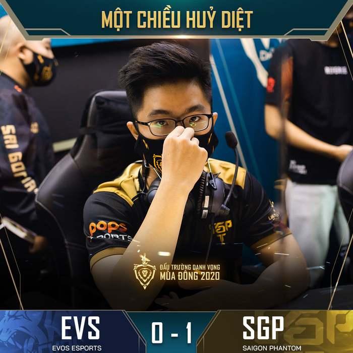 ĐTDV mùa Đông 2020 vòng 11: Huỷ diệt EVOS Esports với tỉ số 3-0, Saigon Phantom tiếp tục khẳng định vị thế số 1 ở mùa giải năm nay - Ảnh 1.