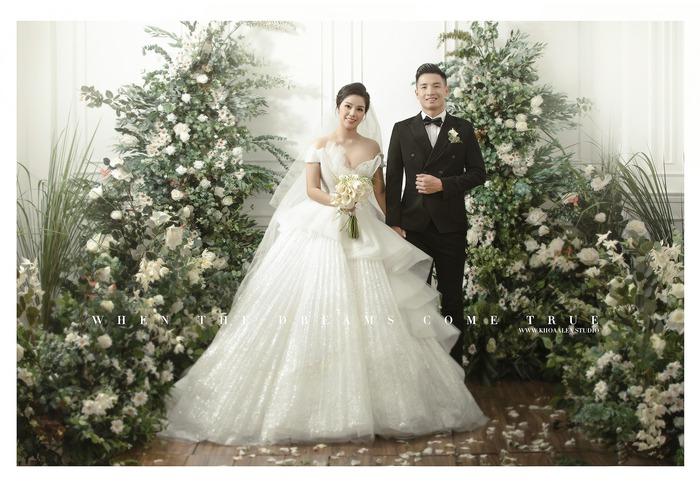 Ngắm trọn bộ ảnh cưới tình bể bình của Tiến Dũng - Khánh Linh: Cô dâu xinh mọi concept, chú rể phong độ miễn chê - Ảnh 3.