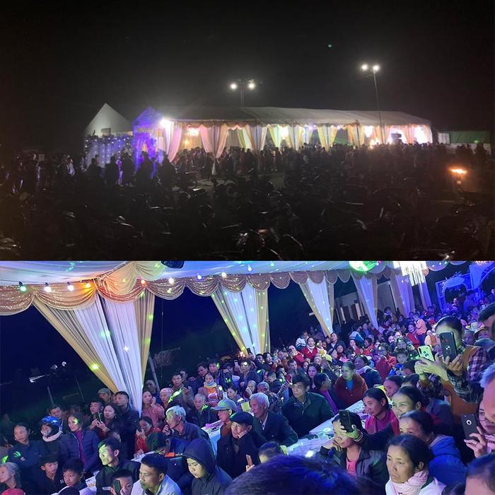 """Choáng ngợp hình ảnh gần 1000 người đến """"uống nước"""" chia vui với gia đình Công Phượng trước ngày đón dâu - Ảnh 1."""