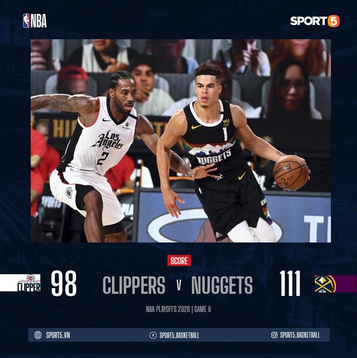 Vứt bỏ cách biệt 18 điểm, Los Angeles Clippers nhận trận thua bạc nhược trước Denver Nuggets ở nửa sau trận đấu - Ảnh 3.