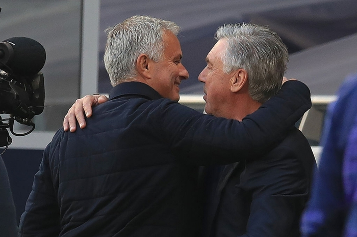 Ancelotti đã thể hiện đẳng cấp nhỉnh hơn bằng trận thắng Tottenham của Mourinho (Ảnh: Getty Images).
