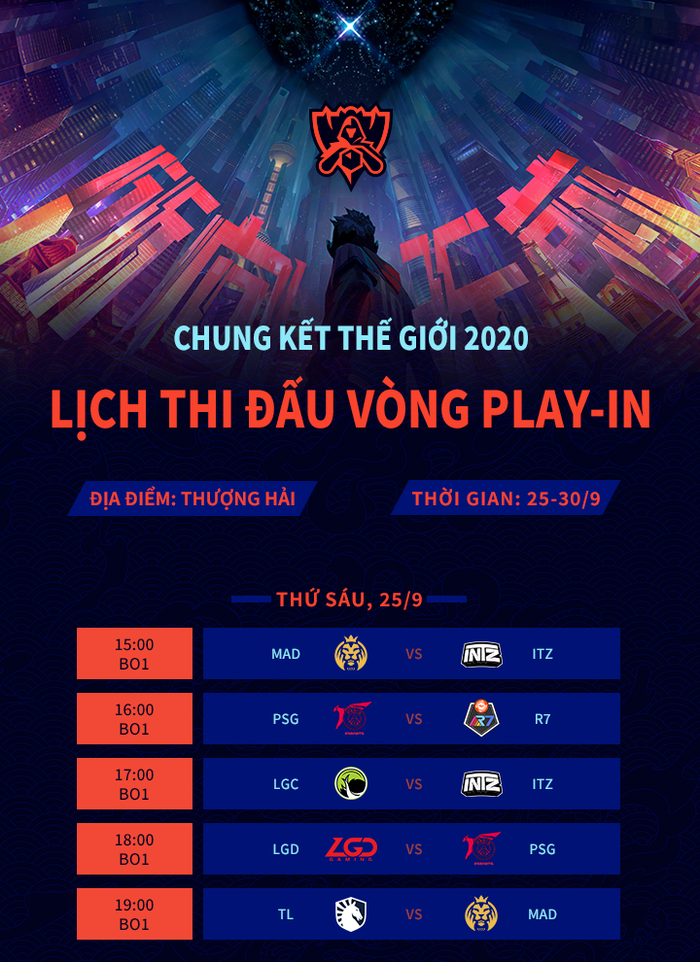 """Lịch thi đấu Vòng Khởi Động và Vòng Bảng CKTG 2020: Mọi màn thư hùng đều diễn ra vào """"giờ đẹp"""", fan Việt thoải mái theo dõi - Ảnh 1."""