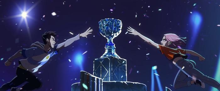 """Giải mã chi tiết từng hình ảnh trong bài nhạc chủ đề CKTG 2020: Faker đóng vai """"tiền bối"""" dẫn dắt thế hệ trẻ đến chức vô địch, tân vương năm nay sẽ là ngựa ô đến từ châu Âu? - Ảnh 11."""