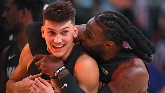 Phong độ rực cháy của Tyler Herro ở NBA Playoffs đã được Chủ tịch Pat Riley nhìn ra từ một năm về trước? - Ảnh 1.