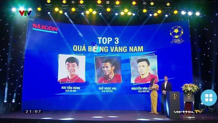 BTC lễ trao giải Quả bóng vàng 2020 nhầm lẫn nghiêm trọng: Văn Quyết thuộc CLB Viettel, Bùi Tiến Dũng thành người của CLB Hà Nội  - Ảnh 1.