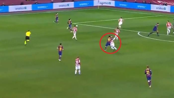 Messi tung nắm đấm với hai cầu thủ Bilbao trong góc máy mới - Ảnh 3.