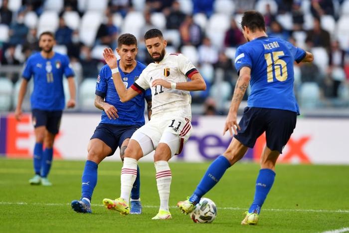 Bị xà ngang, cột dọc từ chối 3 bàn thắng, Bỉ bất lực chứng kiến Ý giành hạng 3 Nations League - Ảnh 2.