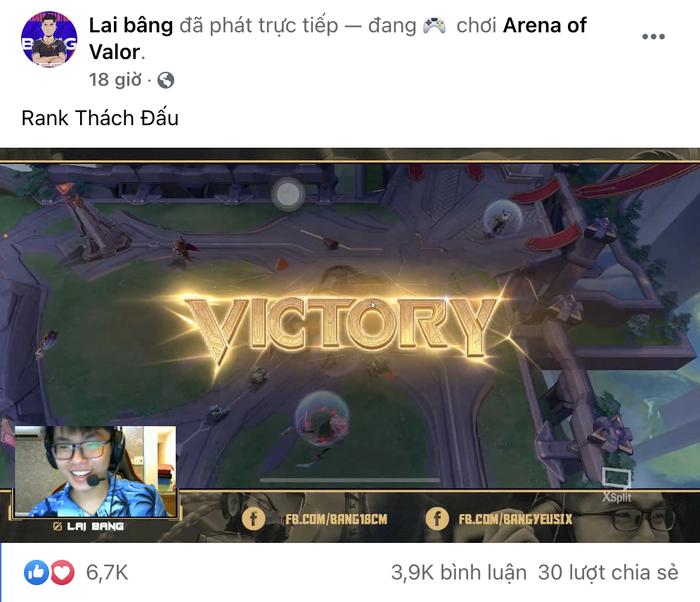 """Lai Bâng """"Ngày Xưa"""" bất ngờ lên top 1 Thách đấu sever Việt Nam, người hâm mộ nô nức vào cà khịa - Ảnh 2."""