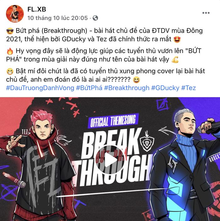 """Záp-Bơ Ích Bê (XB) xác nhận sẽ cover ca khúc chủ đề của ĐTDV mùa Đông 2021 - """"Bứt Phá"""" - Ảnh 2."""