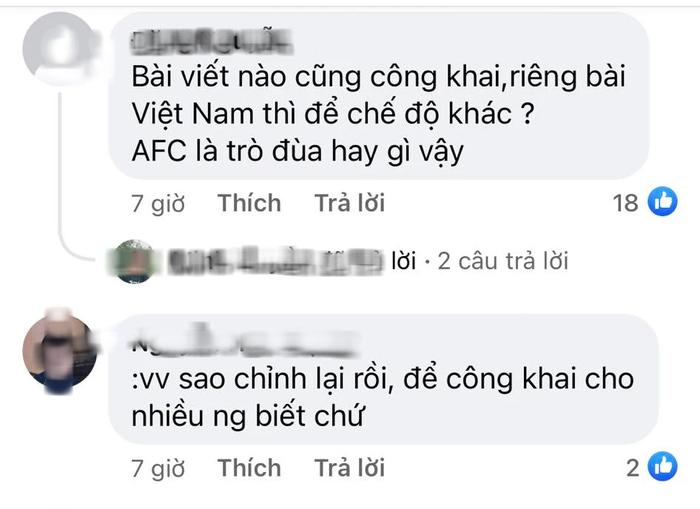 Fan Việt tấn công page của AFC, phẫn nộ vì AFC đăng bài động viên ĐT Việt Nam nhưng ở chế độ tuỳ chỉnh - Ảnh 5.
