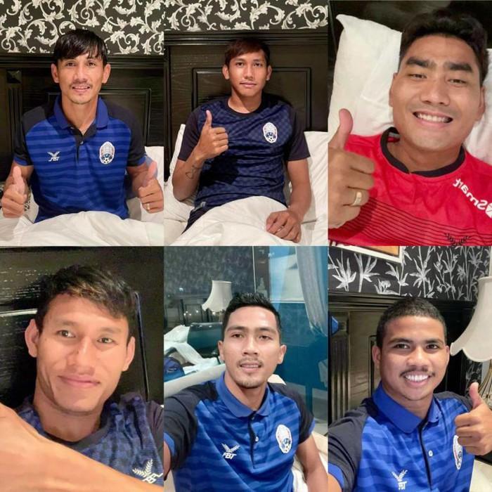 6 cầu thủ tuyển Campuchia mắc Covid-19 tại vòng loại Asian Cup 2023 - Ảnh 1.