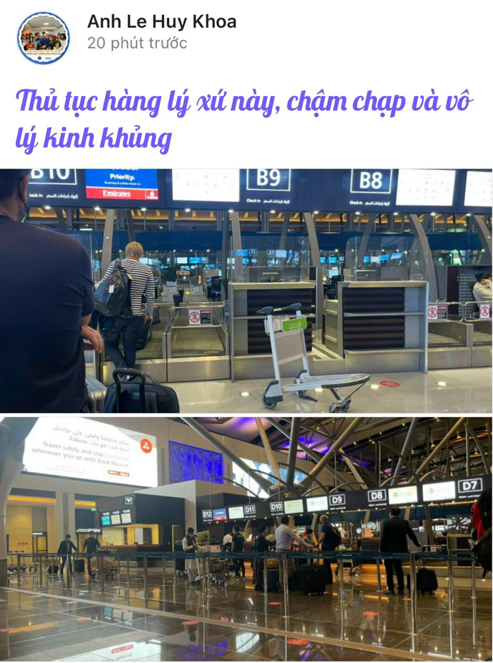 ĐT Việt Nam mệt mỏi vì chờ đợi làm thủ tục tại sân bay Oman - Ảnh 4.