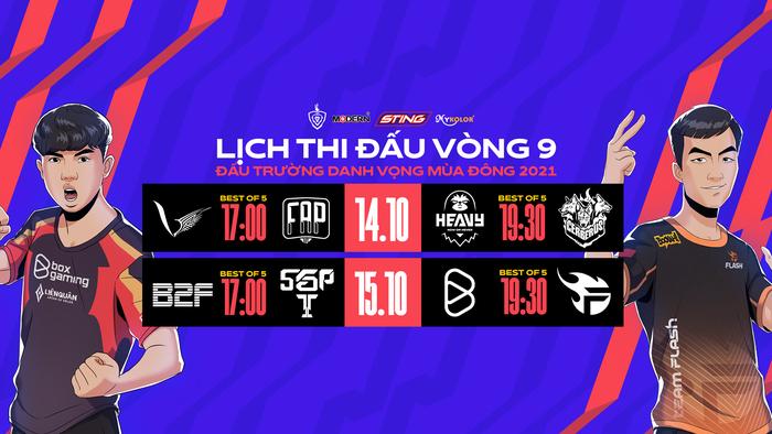 Lịch thi đấu, nhận định vòng 9 ĐTDV mùa Đông 2021: Tâm điểm là trận BOX gặp Team Flash - Ảnh 1.