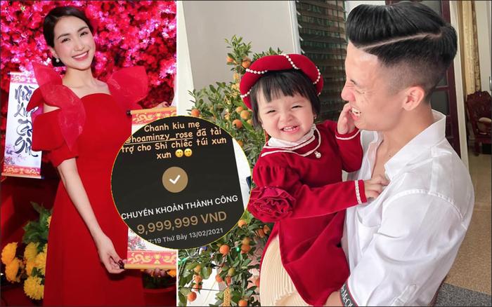 Hoà Minzy lì xì cho con gái Bùi Tiến Dũng gần 10 triệu để mua túi hàng hiệu nhưng lại viết sai tên con dâu tương lai - Ảnh 1.