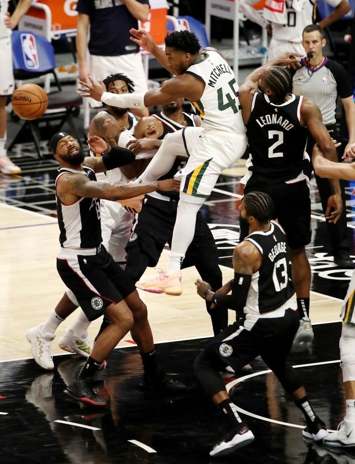 Vững vàng trên vạch ném phạt, Los Angeles Clippers chặn đứng chuỗi 9 trận thắng của Utah Jazz - Ảnh 1.