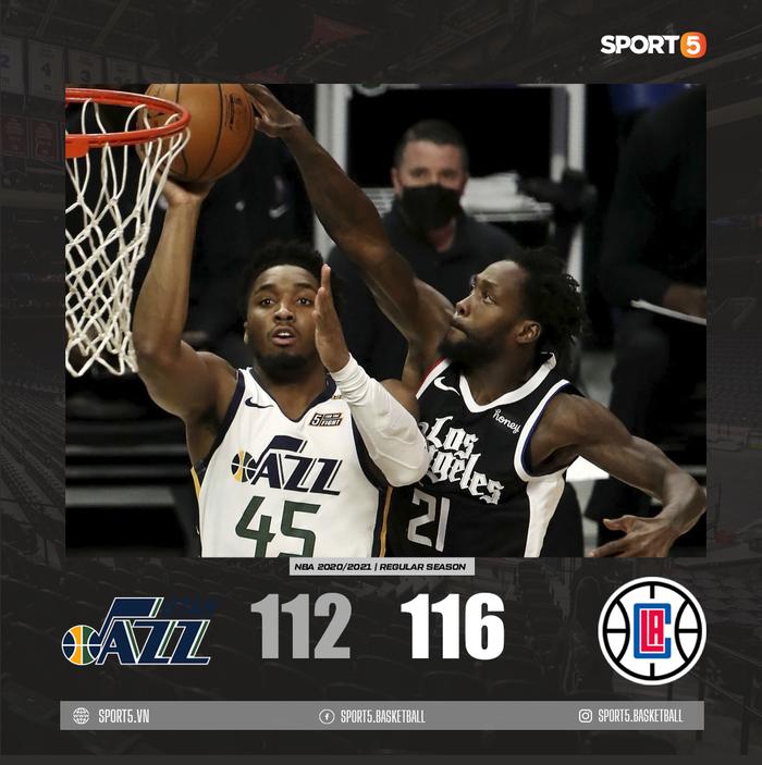 Vững vàng trên vạch ném phạt, Los Angeles Clippers chặn đứng chuỗi 9 trận thắng của Utah Jazz - Ảnh 2.