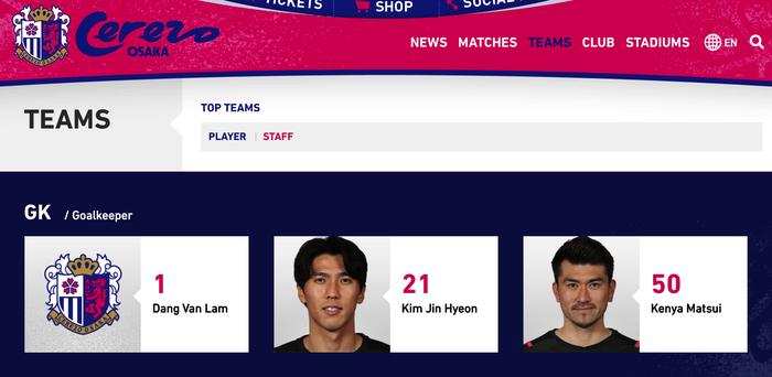 Văn Lâm chính thức có tên ở đội 1 Cerezo Osaka, thuộc nhóm thiếu ảnh đại diện - Ảnh 1.