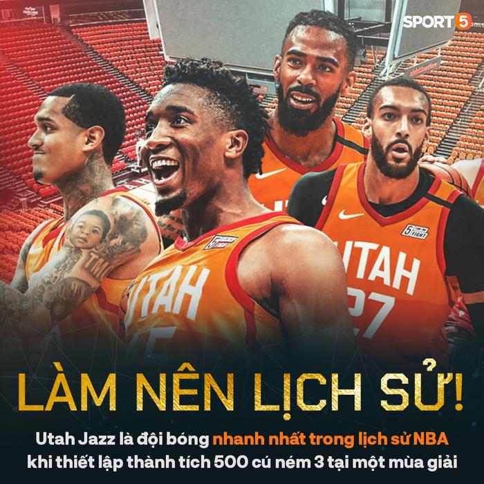 """Utah Jazz làm nên lịch sử giải đấu trong ngày """"hủy diệt"""" Charlotte Hornets - Ảnh 1."""