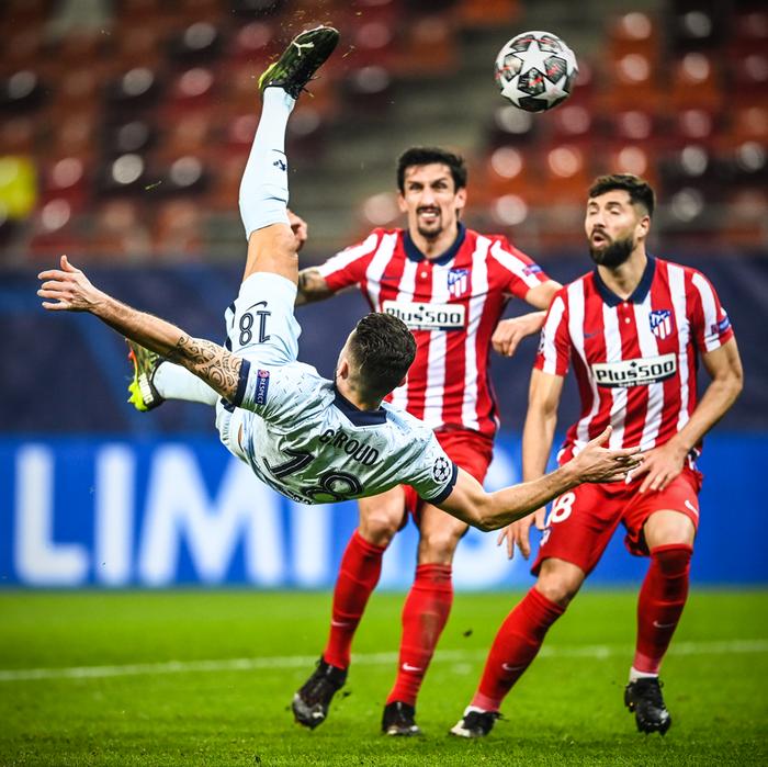 Giroud ghi siêu phẩm giúp Chelsea đánh bại Atletico Madrid - Ảnh 7.
