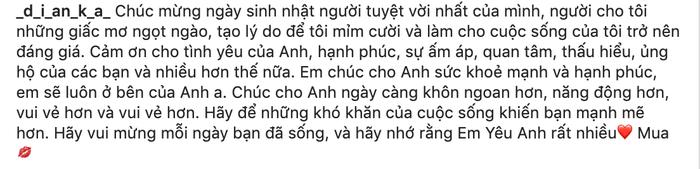 Bạn gái mẫu Tây chúc sinh nhật Bùi Tiến Dũng bằng tiếng Việt, tuy hơi lỗi nhưng ghi điểm tuyệt đối bởi sự chân thành  - Ảnh 2.