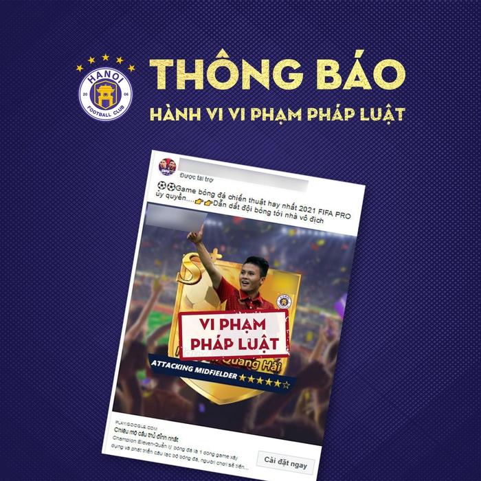Hà Nội FC tuýt còi trò chơi điện tử sử dụng trái phép hình ảnh Quang Hải - Ảnh 1.