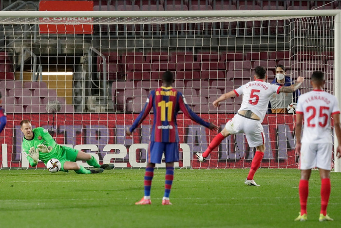 """Barca """"từ cõi chết trở về"""" kịch tích để vào chung kết Cúp nhà Vua Tây Ban Nha  - Ảnh 7."""