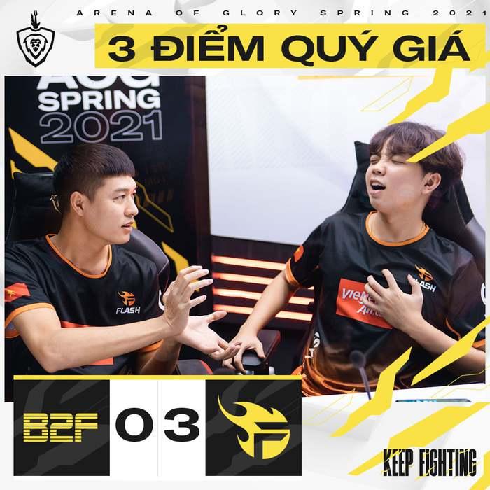 Team Flash giành chiến thắng dễ dàng trước B2F