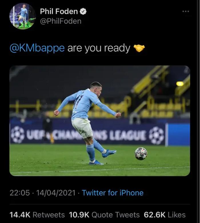 Sao trẻ Man City sa thải đội ngũ truyền thông vì câu nói khiêu khích Mbappe - Ảnh 1.