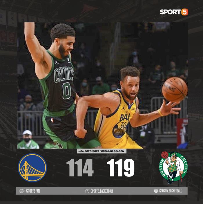 Tỏa sáng với 11 cú ném 3 điểm, Stephen Curry vẫn thua ngược trước Boston Celtics - Ảnh 3.