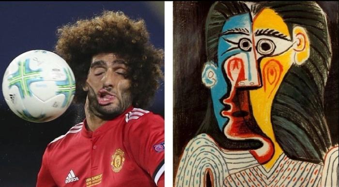 Danh thủ sân cỏ hiện thân trong các bức họa nổi tiếng: Gương mặt xộc xệch của sao MU chiếm spotlight - ảnh 1