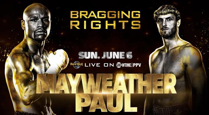 Floyd Mayweather chốt thượng đài với Logan Paul vào ngày 6/6, mỗi bên có mức trần cân nặng riêng - Ảnh 1.