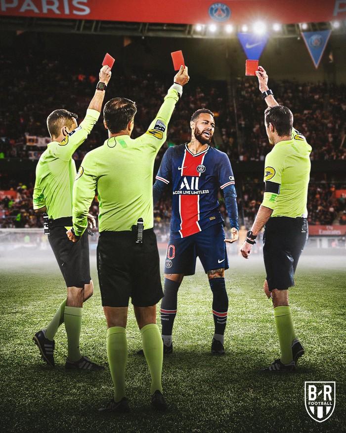 Neymar lập kỷ lục thẻ đỏ ở Ligue 1, trên đường rời sân còn lao vào đòi hành hung đối thủ - Ảnh 6.