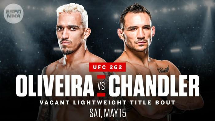 Trận đấu giữa Charles Oliveira vs Michael Chandler sẽ diễn ra tại UFC 262 ngày 15/5