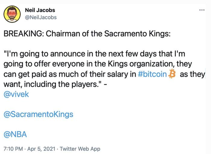 Cơn sốt Bitcoin lấn sân NBA, Sacramento Kings có thể trả lương cầu thủ bằng đồng tiền ảo - Ảnh 1.