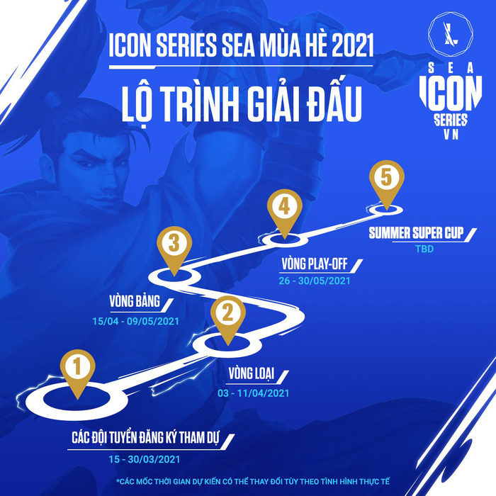 Lộ trình thi đấu của Icon Series SEA mùa Hè 2021