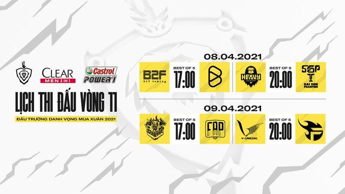 Lịch thi đấu vòng 10 ĐTDV mùa Xuân 2021