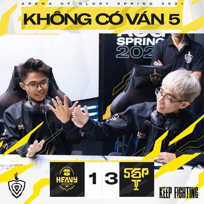 SGP vẫn xuất sắc giành chiến thắng 3-1 trước HEAVY