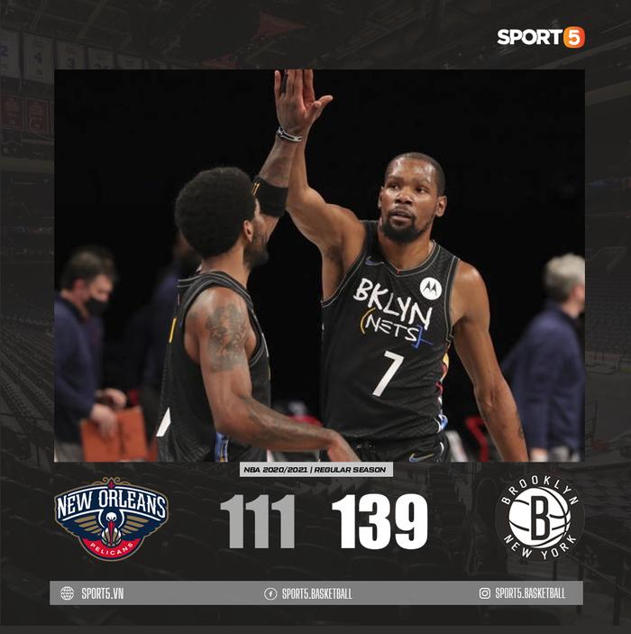 Kevin Durant trở lại, Brooklyn Nets chặn đứng kỳ tích của Zion Williamson bằng chiến thắng hủy diệt - Ảnh 2.