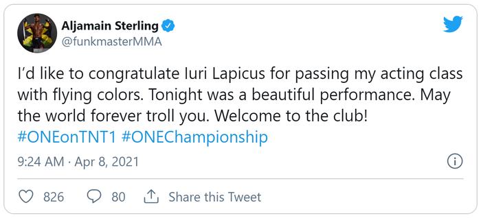 Aljamain Sterling cho rằng Lapicus đã diễn để thắng Alvarez