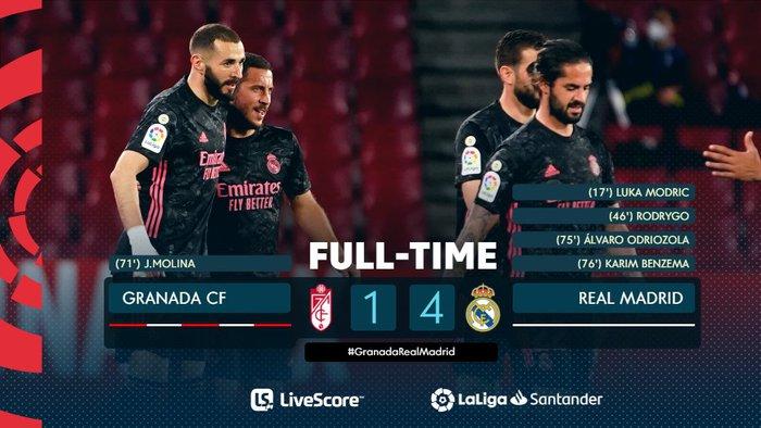 Đè bẹp Granada, Real Madrid tiếp tục tăng độ kịch tính cho cuộc đua vô địch La Liga - ảnh 1