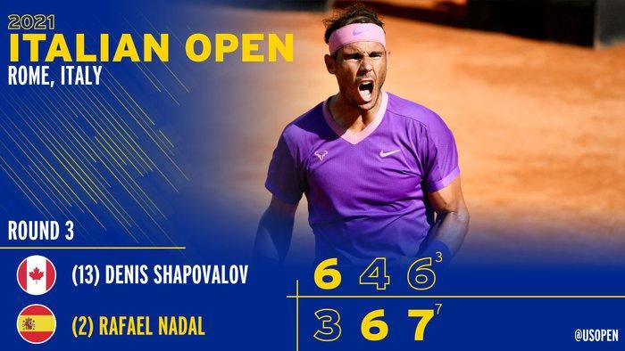 Djokovic hủy diệt đối thủ, Nadal thoát thua ngoạn mục ở vòng 3 Rome Masters - Ảnh 13.