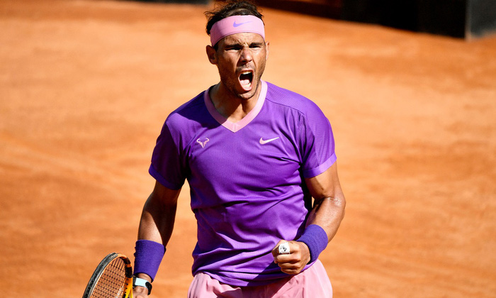 Djokovic hủy diệt đối thủ, Nadal thoát thua ngoạn mục ở vòng 3 Rome Masters - Ảnh 7.