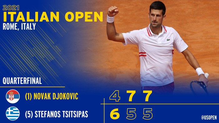 Djokovic thắng liên tiếp hai trận trong ít giờ để đấu Nadal tại chung kết Rome Masters - Ảnh 8.